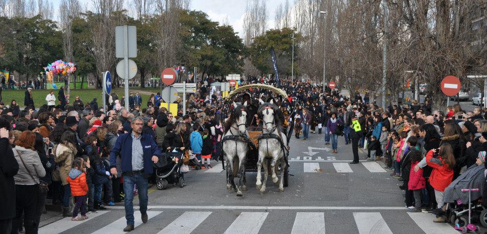 Sant Antoni, a caballo o en carruaje
