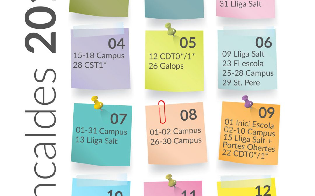 Nuevo calendario Can Caldés 2019