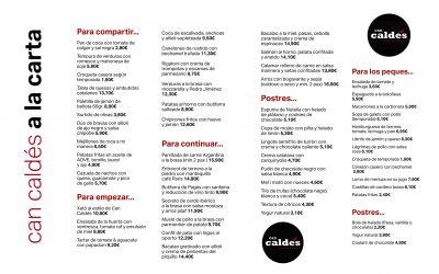 Restaurante Can Caldés estrena carta y horario