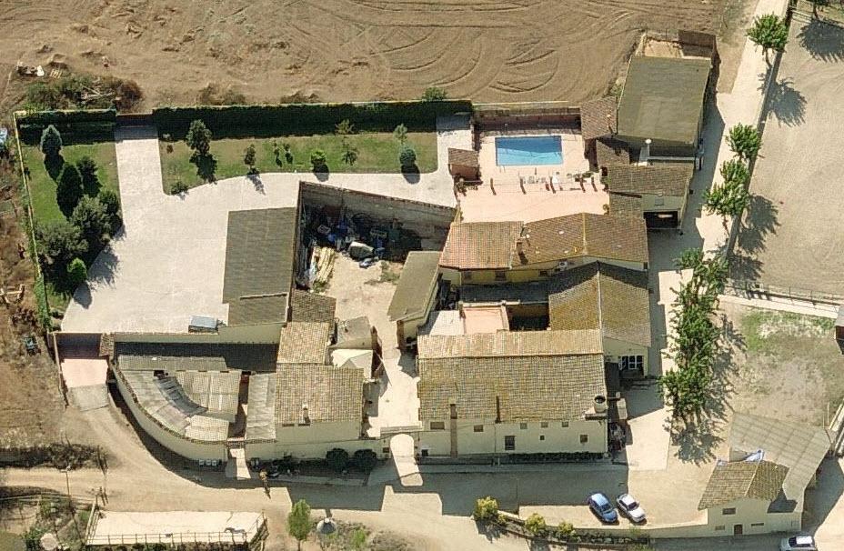 Vista aérea de la Masía de Can Caldés